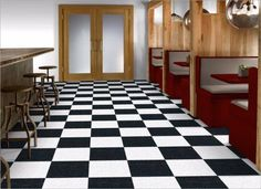 Armstrong Standard Excelon Imperial Texture VCT Tile Classic White Size: x Thickness: Commercial Installation: Glue down vinyl floor tiles Diy Garage Door, Garage Exterior, Garage Door Design, Vct Tile, Vinyl Tile Flooring, Vinyl Tiles, Detached Garage Designs, Garage Floor Tiles, Checkerboard Floor