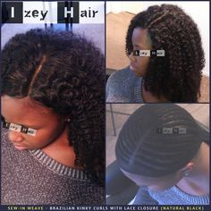 Sew-in Weave - Brazilian Kinky Curls With Lace Closure (Natural Black) . (702) 907-4939 izeyhair.com . . . . . . #CurlyWeaves #SidePart #BrazilianHair #Curls #KinkyCurls #CurlyHair #BrazilianCurls #LaceClosure #Sewin #SewinWeave #WeaveStyles #UnprocessedHair #HairWeft #Braids #Braiders #Braider #BlackHairStyle #ProtectiveStyle #ProtectiveStyles #HairStylist #HairBraiders #AfricanBraider #HairExtensions #AfroTexturedHair #AfricanBraiding #IzeyHair