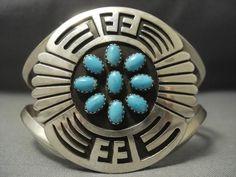 Nice Navajo Sky Blue Turquoise Sterling Silver Navajo Bracelet - Native American Jewelry Nativo Arts #SterlingSilverBoho