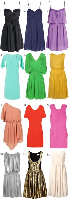 Fabuluos party dresses. Love numbers 1,2,3,6,7, and 12
