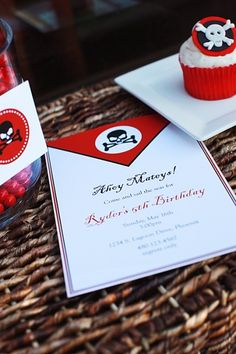 pirate party invitation :: the tomkat studio
