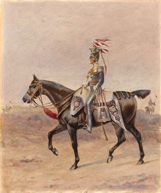 A mounted officer of the 17th Regiment of (Light) Dragoons (Lancers), 1825 (c)