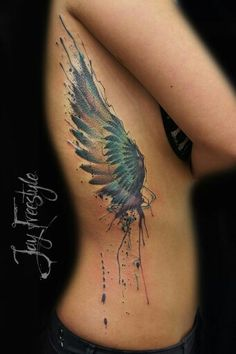 Wing tattoo - Jay Freestyle by JayFreestyle on DeviantArt Pretty Tattoos, Beautiful Tattoos, Cool Tattoos, Tatoos, Wing Tattoo Designs, Best Tattoo Designs, Backpiece Tattoo, I Tattoo, Tattoo Wings
