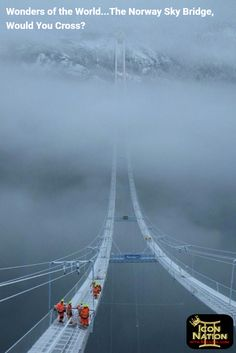 Wonders of the World...The Norway Sky Bridge, Would You Cross? Be An Icon!