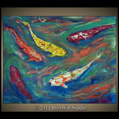 another koi fish painting