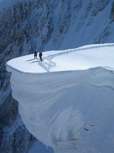 Mount Blanc, France.........no way would I stand there!  I have seen the Ice Age films too many times :)
