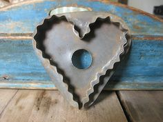 antique 1800's Pa tin heart cookie cutter | eBay
