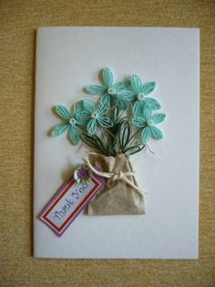 *QUILLING:   Flower in paper bag - Quilled Creations Quilling Gallery