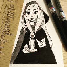 Pinup Arena • pernilleoe: Inktober Day 9: Candle - finishing...