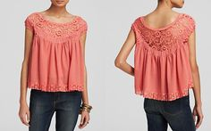 Free People Top - Heart Throb Babydoll