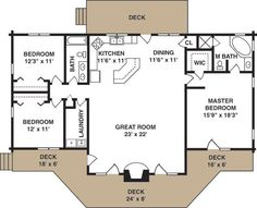 Simple cottage plan by MyohoDane. Bump bedroom down and add a storage room. Bump kids rooms apart and add laundry room