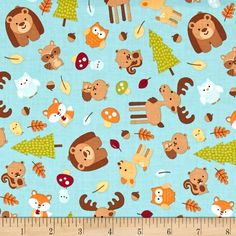 Designed by Doodlebug Designs for Riley Blake, this cotton print fabric is perfect for quilting, apparel and home decor accents. Colors include white and shades of brown, magenta, orange and green.