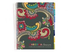 teacher's lesson planner -paisley -love these  personalized planners!!!!