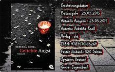 "Leserattes Bücherwelt: [Rezension] ""Geliebte Angst"" Rebekka Knoll"