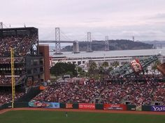 Any baseball field, Anywhere, USA  (This one just happens to be AT&T Park, home of the Giants, in San Francisco)  Gotta love baseball, hotdogs, and beer