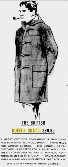 The Duffle Coat had its start in the 40s
