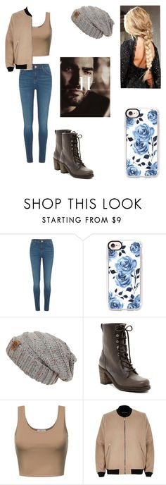 """""""I don't care"""" by kendall-bostic ❤ liked on Polyvore featuring River Island, Casetify and Frye"""