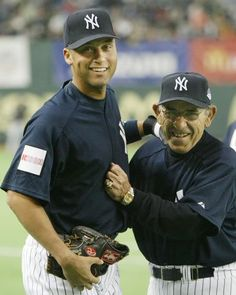 Derek Jeter and Yogi Berra                                                                                                                                                     More