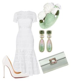 """Без названия #2615"" by claire-hamilton-bristol on Polyvore featuring мода, self-portrait, Dana Rebecca Designs, Christian Louboutin и Roger Vivier #rogervivieroutfit"