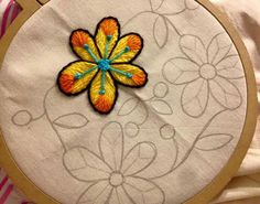 Mexican Embroidery, Hand Work Embroidery, Embroidery Monogram, Hand Embroidery Stitches, Silk Ribbon Embroidery, Embroidery Hoop Art, Crewel Embroidery, Embroidery Techniques, Machine Embroidery Patterns