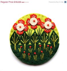 Hey, I found this really awesome Etsy listing at https://www.etsy.com/listing/191845277/summer-sale-wonderland-felt-brooch-pin