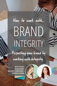 How to work with brand integrity and respect what your time, energy, and skills are worth. Collaboration guest post on Julie Harris Design.
