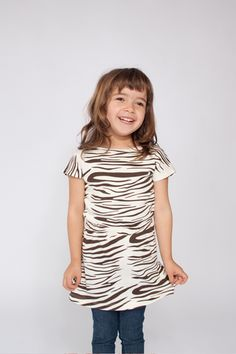 Zebra print Mini Rodini Dress for a fun and funky look. Great wardrobe winner shop now with Sparkle & Spin | Sparkle and Spin