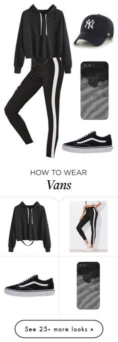 """Outfit"" by andreeadeeix12 on Polyvore featuring '47 Brand and Vans"