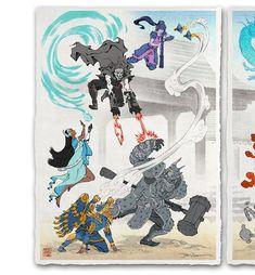 'Fallen Blossoms, New Life' Giclée (set of 4 prints) Overwatch, Japanese Drawings, Japanese Paper, Graffiti, Hybrid Art, Samurai Artwork, Japon Illustration, Video Game Art, Marvel