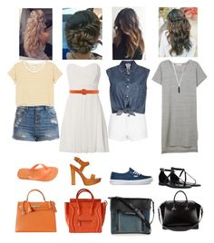 """""""Random Outfits of the Day"""" by rileyadewitt ❤ liked on Polyvore featuring TFNC, Dsquared2, Jean-Paul Gaultier, Pieces, Monki, Vans, Havaianas, Ralph Lauren Black Label, Karen Kane and CÉLINE"""