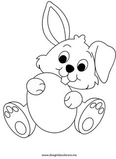 80 free printable Easter Bunny coloring pages in vector format, easy to print from any device and automatically fit any paper size. Easter Bunny Colouring, Bunny Coloring Pages, Free Coloring Pages, Coloring Books, Printable Coloring, Easter Templates, Easter Printables, Easter Activities, Digital Stamps