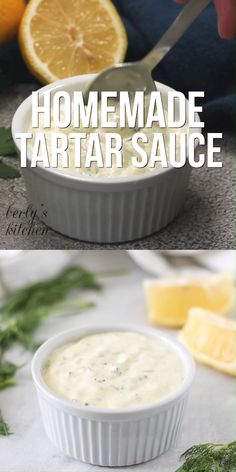 This is the BEST tartar sauce recipe! Make this homemade tartar sauce recipe today. This easy tartar sauce with horseradish is perfect for fish and chips! Food video, recipe video, Source by berlyskitchen Best Tartar Sauce Recipe, Easy Tartar Sauce, Tater Sauce Recipe, Recipe For White Sauce, Mcdonalds Tartar Sauce Recipe, Home Made Tarter Sauce, Spicy Mayonnaise Recipe, White Sauce For Fish, Food Recipes