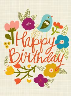 Happy Birthday #flowers #birds
