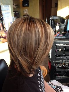 Brown with Carmel highlights by Seanie at pin-up curls | Beauty ...