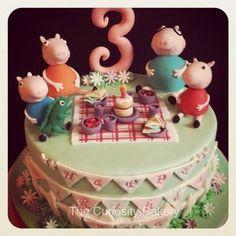 Peppa pig  Cake by TheCuriosityCakery