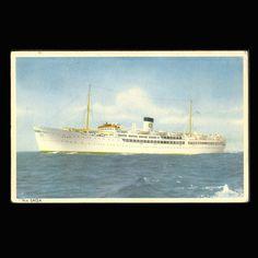 Vintage Postcard MS Saga Ship from JMCVintagecards on Etsy Postcards For Sale, Vintage Postcards, Vintage Items, English Coins, Postage Rates, Coins For Sale, Uk Shop, View Image, Saga