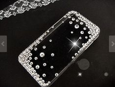 plus White rhinestone Hard Back Mobile phone Case Cover bling handmade crystal Case Cover for iPhone 4 5 7 6 6 plus Samsung galaxy 4 Ipod Touch Cases, Girly Phone Cases, Diy Phone Case, 5s Cases, Mobile Phone Cases, Phone Covers, Mobile Phones, Iphone 3, Iphone 6 Plus Case