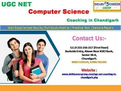 UGC NET Computer science Coaching in Chandigarh Net Exam, Icici Bank, Sample Paper, Best Computer, Entrance Exam, Chandigarh, First Names, Computer Science, Coaching