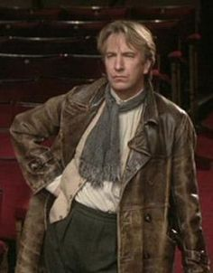 No one in the world can wear such a collection of scarves as Alan Rickman. (from another of my fave movies,  Awfully Big Adventure)