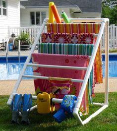 Porta toalhas de cano PVC - Vale o Clique!