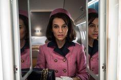 """Jackie"" stars; Natalie Portman as Jackie Kennedy, Peter Sarsgaard as Bobby Kennedy and also stars Billy Crudup, John Hurt and Greta Gerwig."