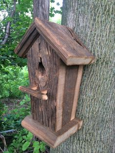 Handmade rustic bird house. by KeithGeppetto on Etsy