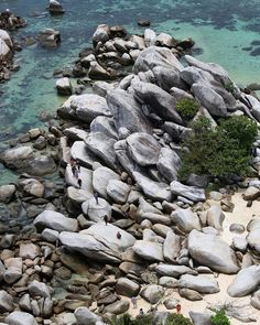 from - The Rocks at Lengkuas Island - Belitung. One question : How this rocks has appeared ? Belitung, Beautiful Rocks, The Rock, Sunny Days, Paradise, Island, Awesome, Places, Instagram Posts