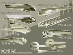 Pontiac Hood Ornaments 1936-40