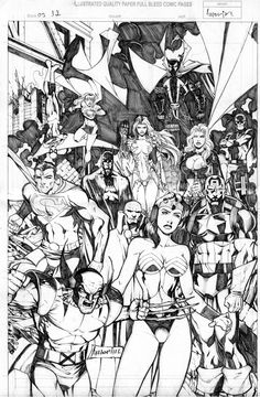 Marvel  DC Image & Top Cow Heroes Pinup Comic Art