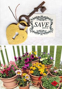 Paper Lock And Key With Plantable Flower Seeds Inside | Bored Panda