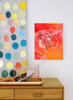 Free art printable: Here Comes The Sun, via We Are Scout | HUNTING. GATHERING. MAKING. THE GOOD STUFF.