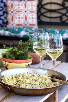 Spring Lunch of Pasta, Herbs and Tuna – sweet almond