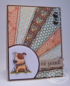 Wednesday Trends--Starburst/Sunburst Design (There She Goes Clear Stamps)