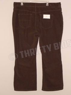 Tommy Hilfiger Brown Corduroy Pants Hipster Bootcut Stretch Womens Plus 22 x 31  #TommyHilfiger #Corduroys